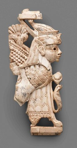 Nimrud Ivory Plaque with Winged Human-headed Sphinx