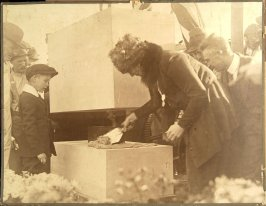Alma Spreckels Laying the Corner Stone of the Legion of Honor