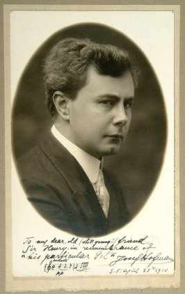 autographed photograph of musician