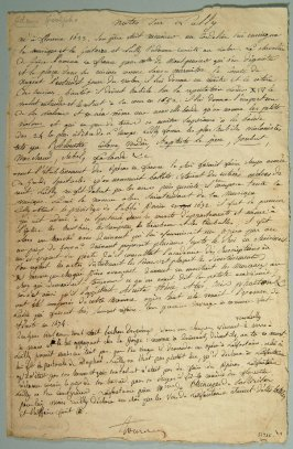 Letter of Adolphe Charles Adam
