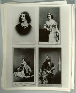 reproduction photographs of cabinet cards of actors and actresses