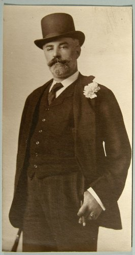 photograph of man with cigar