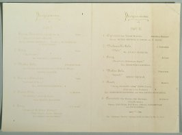 faded reproduction of concert program by Henry Heyman