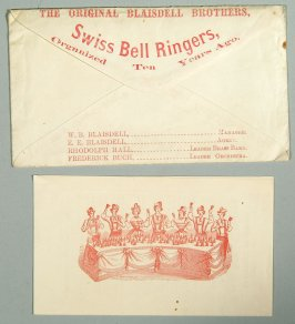 program for the Blaisdell Brothers, Swiss bell ringers