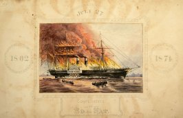 Steamship Golden Gate in Flames