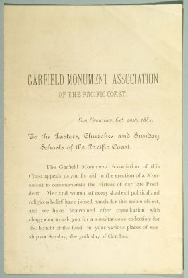 Appeal - Garfield Monument Association