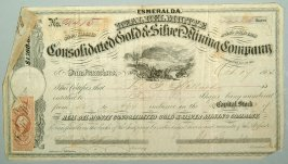 4400 shares of Consolidated Gold and Silver Mining Co.