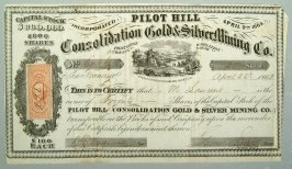 20 shares of Consolidated Gold and Silver Mining Co.