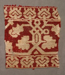 Lace fragment red and white