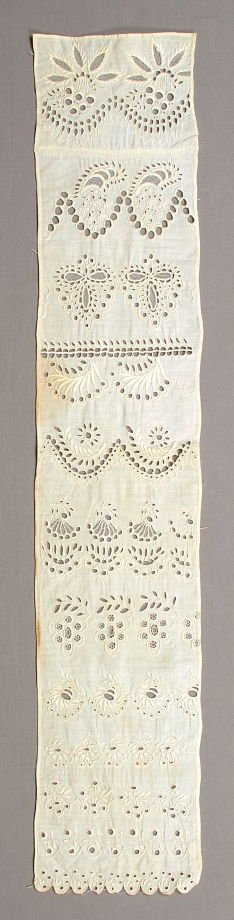 Embroidery, cutwork sampler