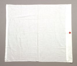 Towel or coif with red cross