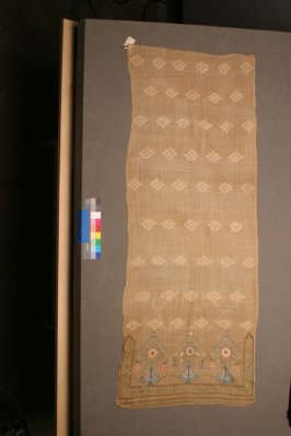 One of two pieces of a towel (see A347142)
