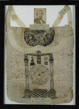 D.H.T. Mosse, pioneer (framed with Masonic apron - 38665)