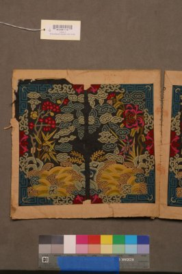 Embroidered square (one of pair - 1944.3)