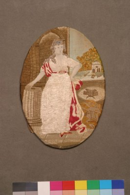 Panel: image of a woman