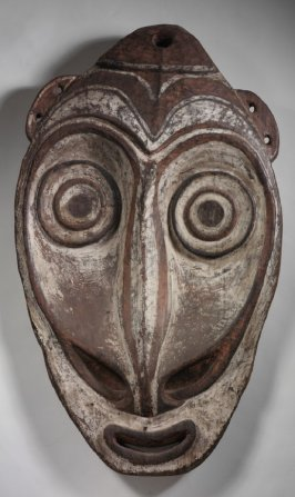 Ceremonial house gable mask