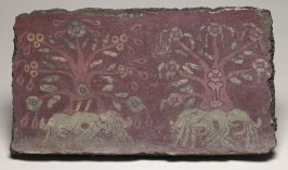 "Mural fragment [""flowering trees""]"