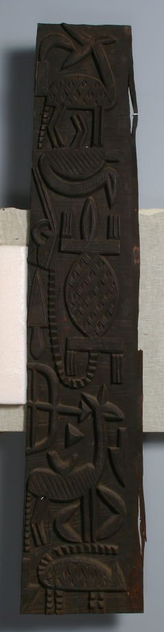 Door carved in 3 panels