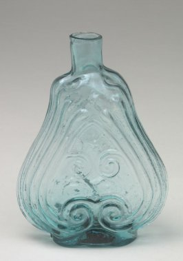 Flask - scroll with star above, blue aquamarine