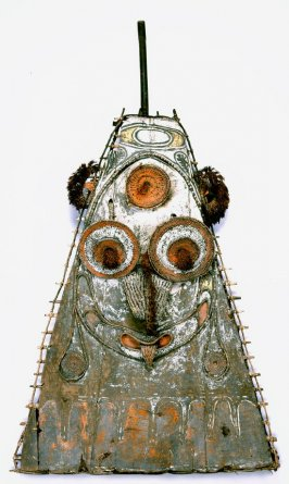 Gable mask from ceremonial house façade