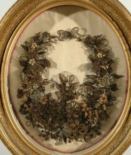 Framed hair wreath