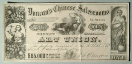 One dollar share in Duncan's Chinese Salesrooms Art Union