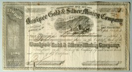 Fifty dollars share in Ossipee Gold and Silver Mining Company, B.F. Butler