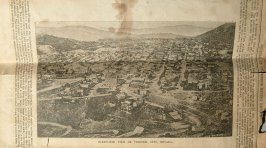 Bird's Eye View of Virginia City, Nevada