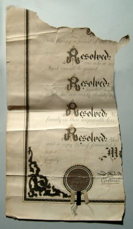 fragment of official document