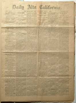 Four issues of Daily Alta California newspapers, 1889