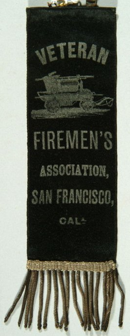 Ribbon: Veteran Fireman's Association black