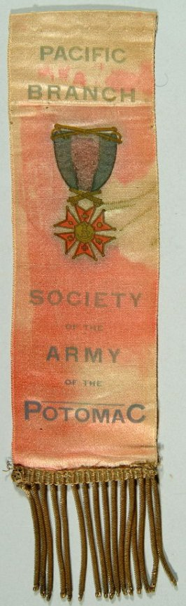Badge of the G.A.R., Society of the Army of the Potomac red, worn by Thomas Mallon