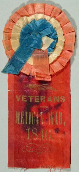 Ribbon: Veteran of the Mexican War, 1816 red with red, white and blue