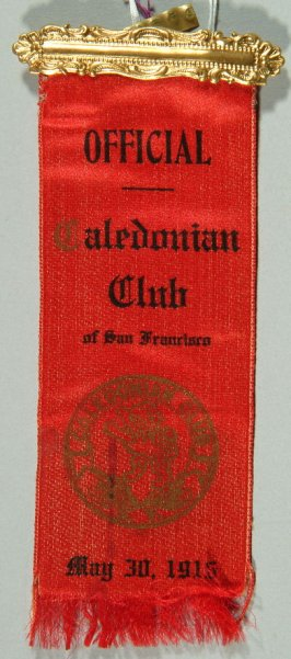 Ribbon: Caledonian Club of S.F., May 30, 1916 red