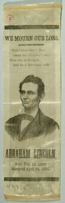 Mourning ribbon for Abraham Lincoln