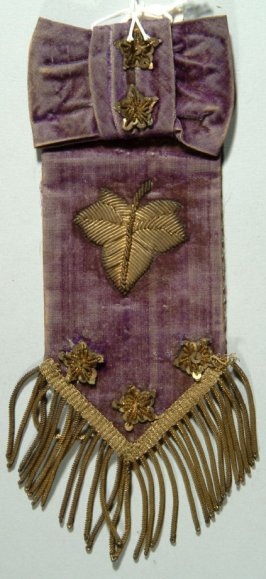 Ribbon: officers of the Ivy Social Club, San Francisco,