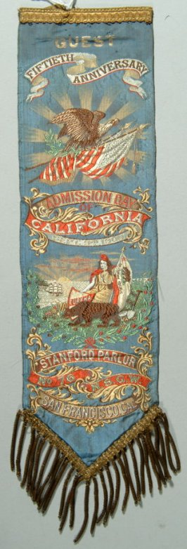 Stanford Parlor ribbon celebrating the 50th Anniversary of California Statehood