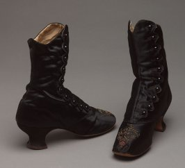 Pair of evening boots