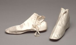 Pair of woman's evening or wedding boots