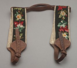 Needlepoint carpetbag handles