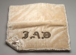"Cravat case embroidered, ""J.A.D."""