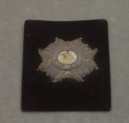 French Order badge with crowned man on horseback