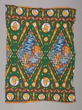 Printed cloth (one of two pieces)
