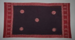 Panel, purple and red cotton, India