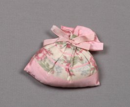 Sachet pink with floral design (part of 1986.59 wedding group)