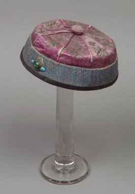 Mandarin cap: , faded purple with purple button