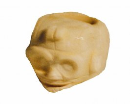 Ritual mace head, mask face with tlaloc eyes