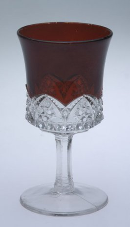 Wine glass Scalloped Daisy