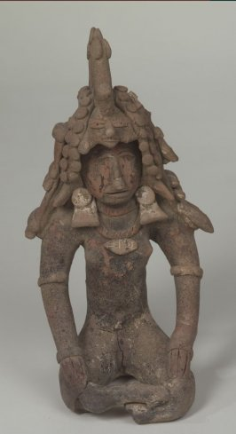 Seated Figure with Headdress