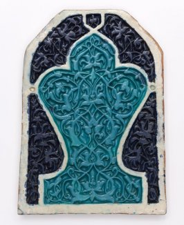 Timurid Panel in the Shape of a Mihrab